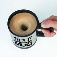 Self stirring mug black