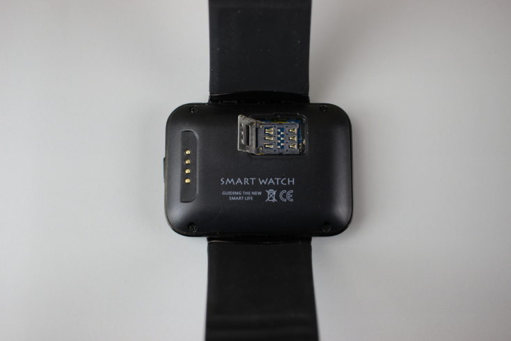 the back of the Makibes DM98 Smartwatch