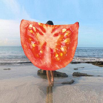 Fruity beach towel tomato