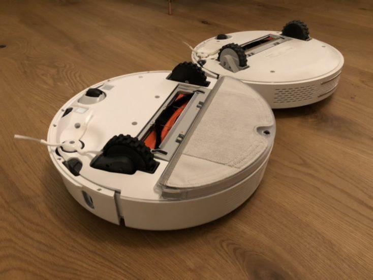 Xiaomi RoboRock Sweep One Vacuum Robot Underside Comparison Mi Robot