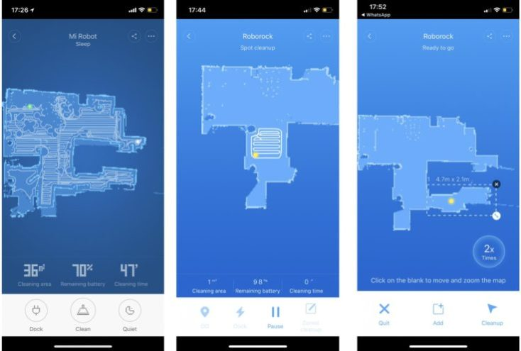 Xiaomi RoboRock Sweep One Vacuum robot Room measurement Room layout