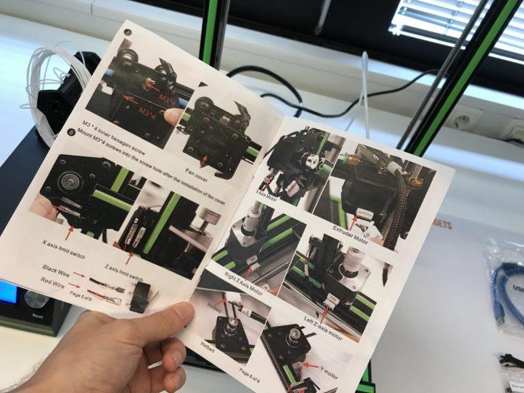 Anet E10 3D printer manual
