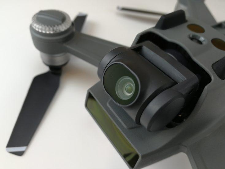 closeup of the DJI Spark camera