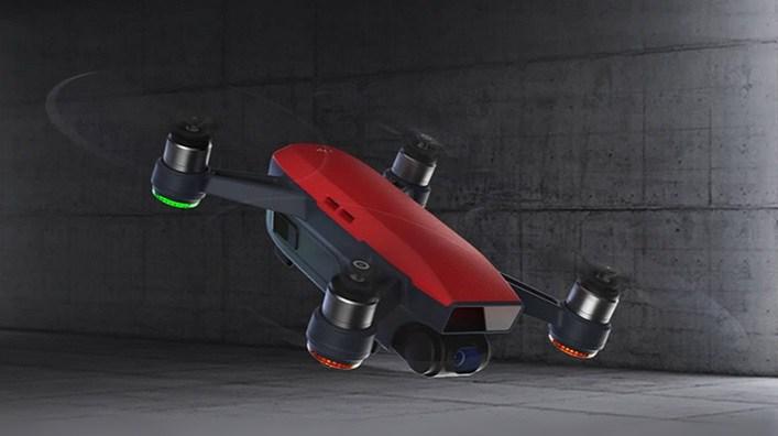 DJI Spark selfie drone in red