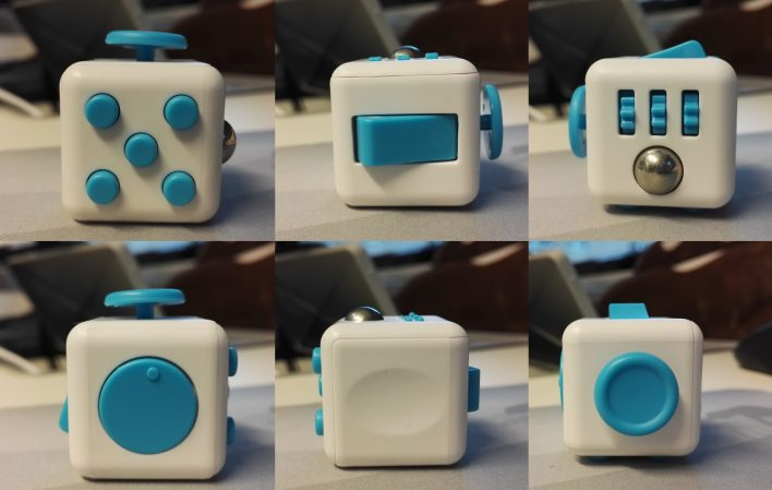 all the different sides of the fidget cube