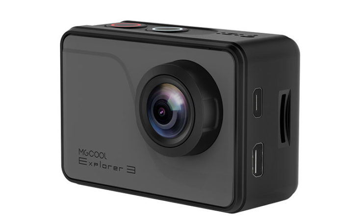 MGCOOL Explorer 3 Action Cam from the side