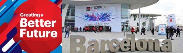 Press picture of the Mobile World Congress 2018 in Barcelona.