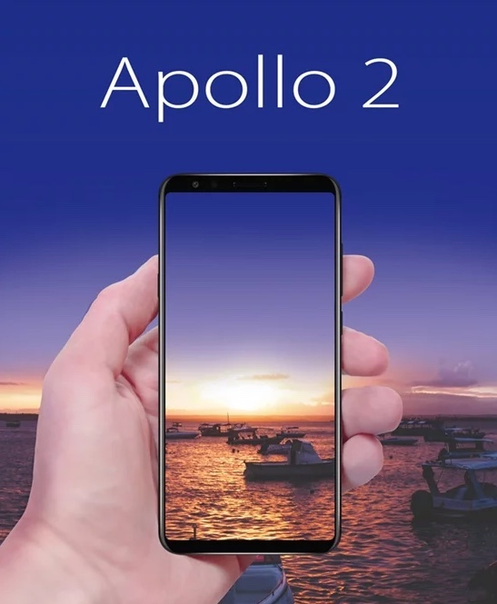 First design photo of the Vernee Apollo 2 smartphone.
