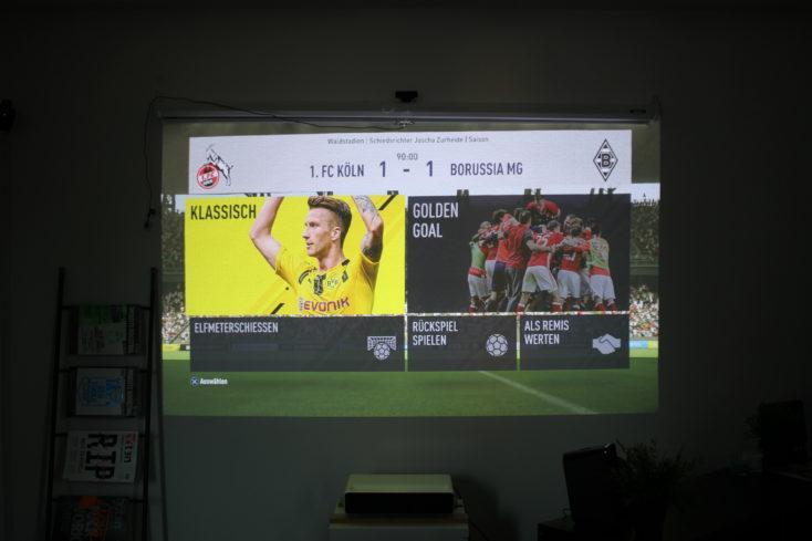 Xiaomi Mi Laser projector Test Fifa 17 Menu