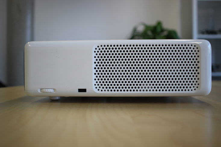 the left side of the Xiaomi Mi Laser projector