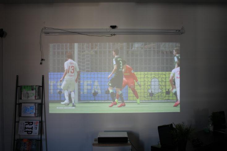 Xiaomi Mi projector brightness Fifa 18