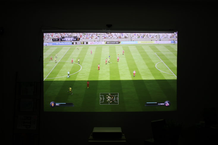Xiaomi Mi laser projector test picture of Fifa 17
