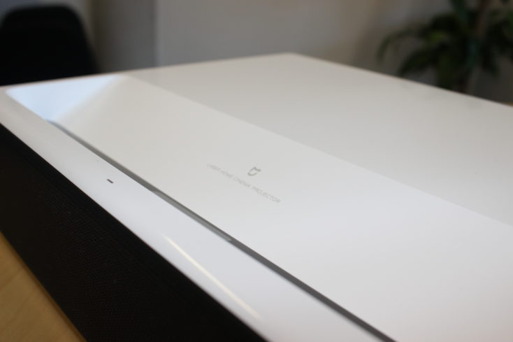 closeup of the Xiaomi Mi Laser projector