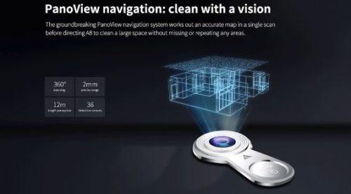 ILIFE A8 Suction Robot Camera