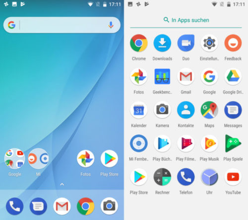 Xiaomi Mi A1 Smartphone Screenshot Android One