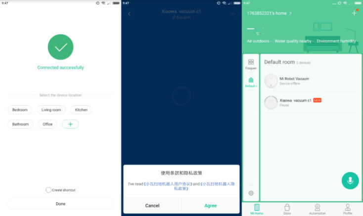 Xiaomi Xiaowa Vacuum Robot Mi Home App