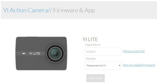 YI Discovery Action Cam Firmware Update