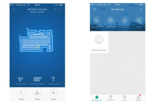 Mi Home Suction Robot App English
