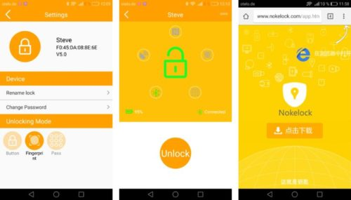 Nokelock App Bluetooth Padlock