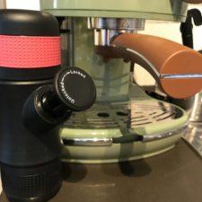Portable espresso machine vs. strainer