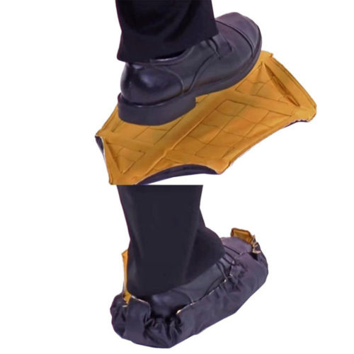 Reusable shoe covers yellow
