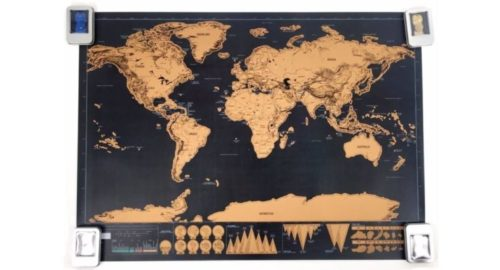 World map scratch-off