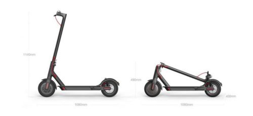 Xiaomi M365 Electric Scooter Dimensions