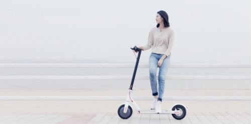 Xiaomi M365 electric scooter advertising image