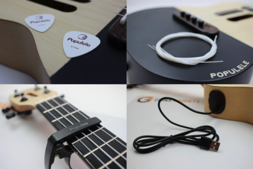 Xiaomi Populele Okulele plecks, capo, strings, cable