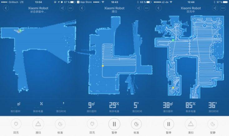 Xiaomi Vacuum Robot Map Screenshots