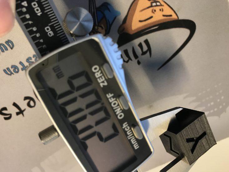 Anycubic I3 Mega: Calibration cube