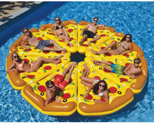 8 pizza air mattresses big pizza in the pool