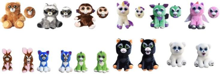 Cuddly toys with surprise effect Feisty