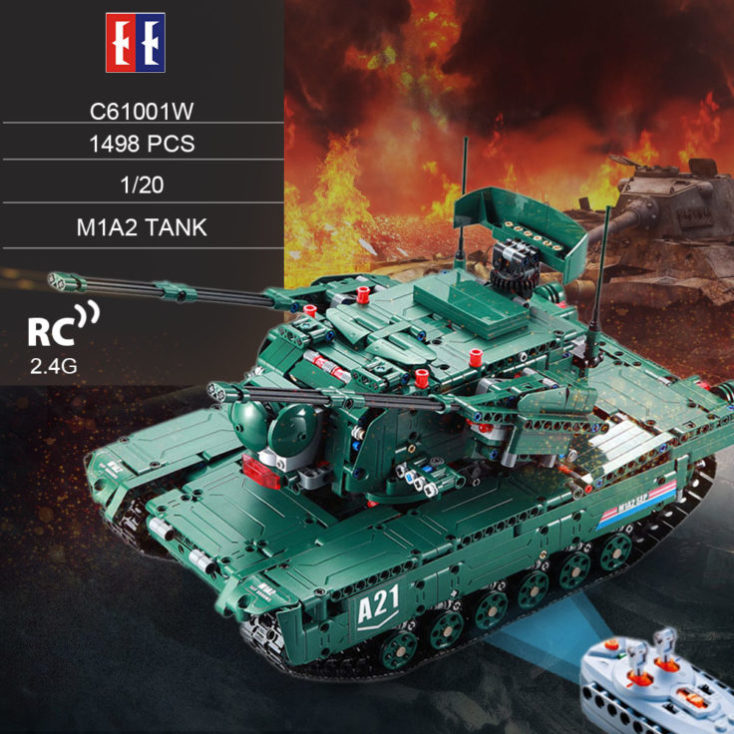 Double E tank made of 1500 parts