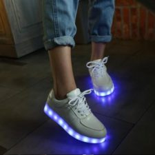 LED sneaker on a woman