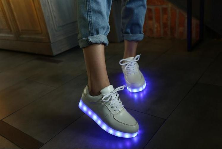 4193ce51d893 LED Sneakers with 7 colors for kids and adults from  5.51