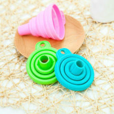 Mini collapsible silicone funnel colors