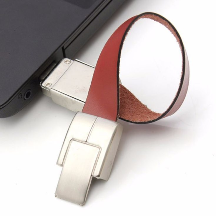 Synthetic leather bracelet USB to computer