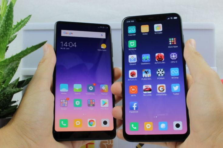 Xiaomi Mi 8 vs Mix 2S Display