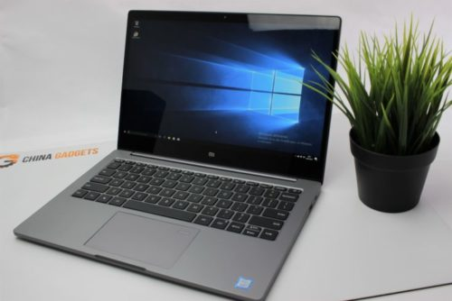 Xiaomi Mi Notebook Air 2018 opened our test copy