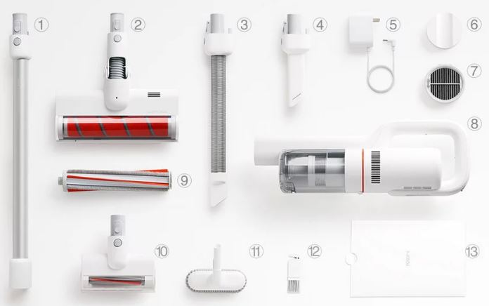 Xiaomi Roidmi F8 battery vacuum cleaner Scope of delivery