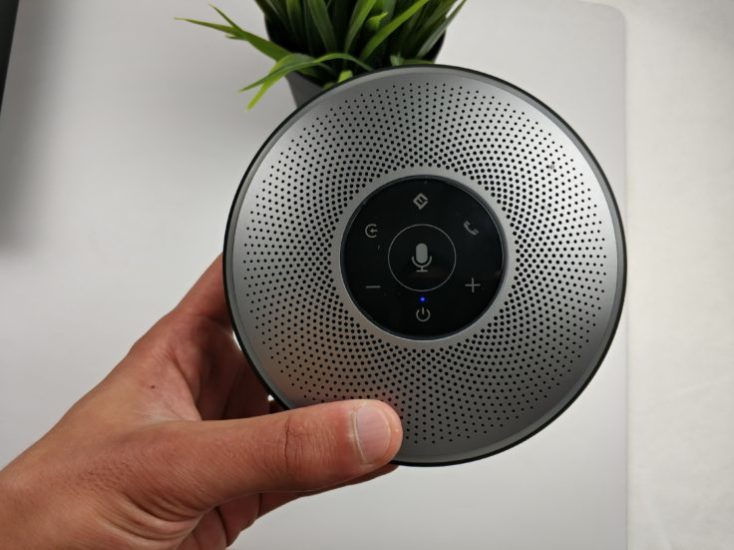 eMeet OfficeCore M2 AI Conference Speaker Dimensions