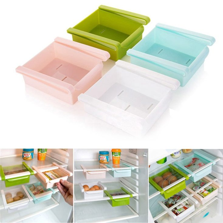 four fridge drawers for organisation