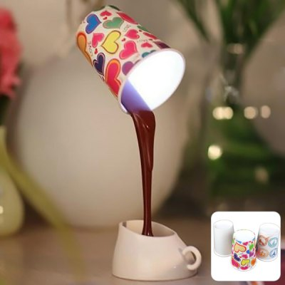 leaking coffee cup lamp