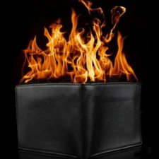 Burning Wallet Fire Wallet