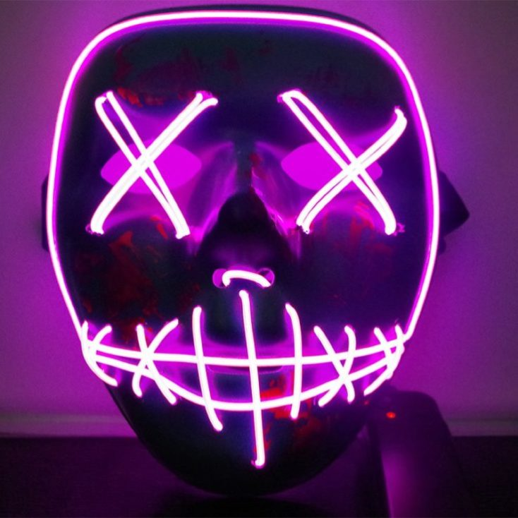 LED Light Mask Purple