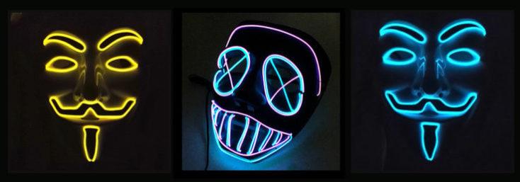 LED Lighting Mask Guy Fawkes