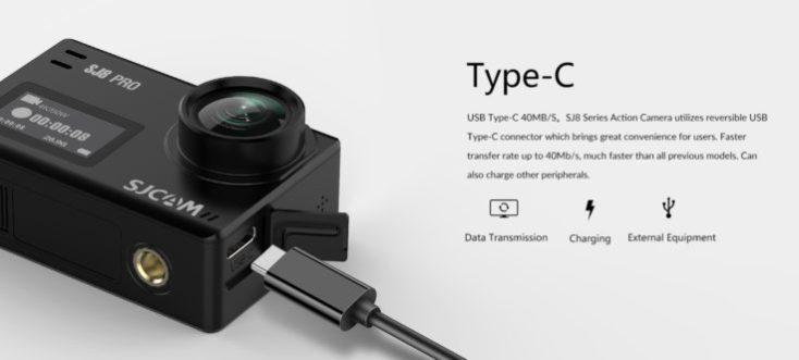 SJCAM SJ8 Action Cam USB C