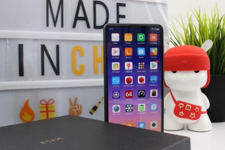 Xiaomi Mi Mix 2S Standing Smartphone