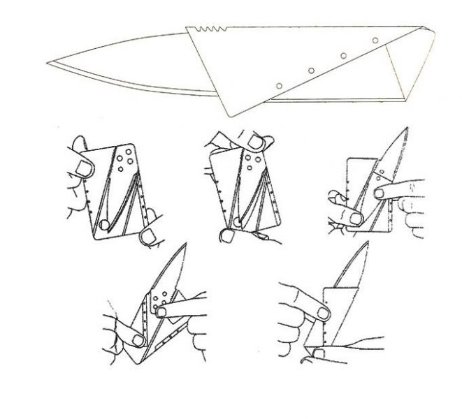 credit card knife instructions